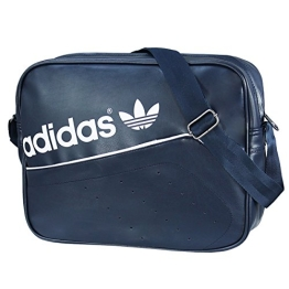adidas Herren Umhängetasche Airliner Perforated, Collegiate Navy/White, 38 x 12 x 28 cm, 12 Liter, AB2782 - 1