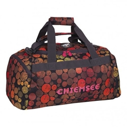 Chiemsee Reisetasche Sporttasche Matchbag Medium, schöne leichte trendige Reisetasche/Freizeittasche mit Schuhfach, Dots Black, 56 x 28 x 38 cm, 5070007 - 1