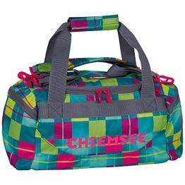 Chiemsee Sporttasche Matchbag, Karo Blue Caba, 44 x 21 x 22 cm, 16 Liter, 5011009 - 1