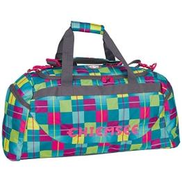 Chiemsee Sporttasche Matchbag, Karo Blue Caba, 67 x 32 x 29 cm, 52 Liter, 5011006 - 1