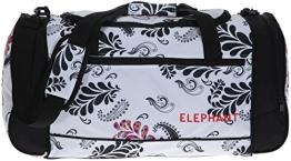 ELEPHANT ® XL Sporttasche 60 cm Sport Tasche Reisetasche / Blumen FLORAL WHITE Weiss - 1