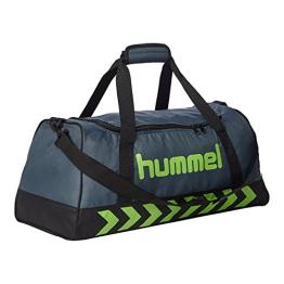 Hummel Tasche Authentic Sports Bag, Dark Slate/Green Flash, 66 x 32 x 37 cm, 78 Liter, 40-957-1616 - 1