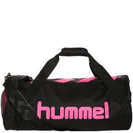 Hummel Tasche Rebel-X Sports Bag, Black/Pink Glo, 50 x 20 x 26 cm, 26 Liter, 40-045-1033 - 1