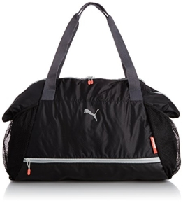 PUMA Damen Tasche Fit at Workout Bag, Black/Periscope/Cayenne, 42 x 41 x 17 cm, 40 Liter, 073406 01 - 1