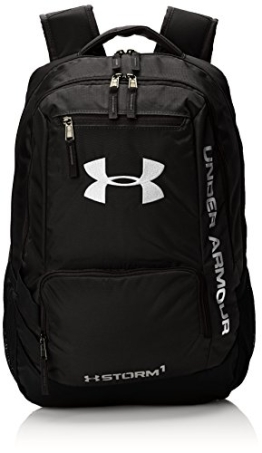 Under Armour Multisport/Multifunktion Rucksack UA Hustle Backpack II, Blk/Slv, 45 x 33 x 20 cm, 31 Liter, 1263964 - 1